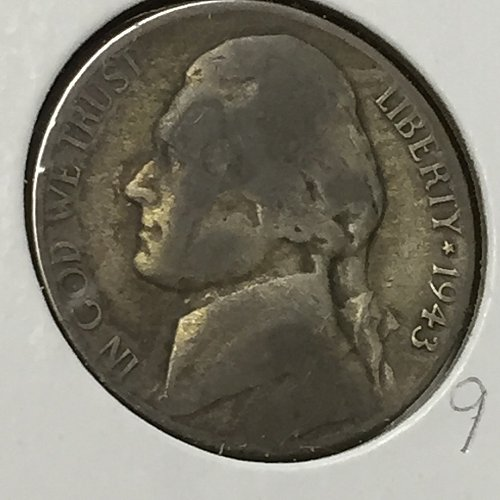 1943-S Jefferson Wartime Nickel (10240)