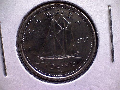 2005 - P CANADA QUEEN ELIZABETH 11 TEN CENTS