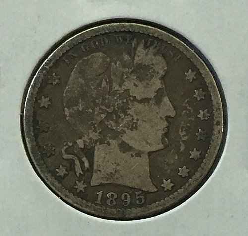 1895 O Barber Quarter - Toned