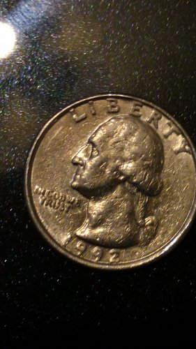1992 P Quarter - 'No Mint Mark'