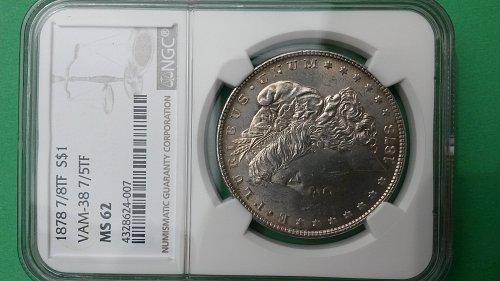 1878 7/8TF MS62 VAM38 7/5TF  MORGAN DOLLAR
