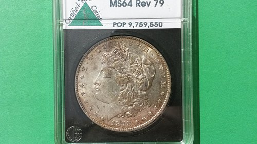 1878 7TF REV79 MS64 MORGAN DOLLAR