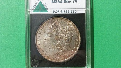 1878 7TF REV79 MS64 MORGAN DOLLAR