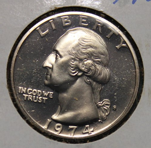 1974 S Washington Quarter