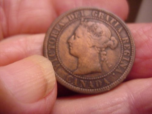 1884 canada large cent....nice