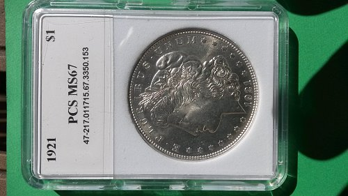 1921 MS67 MORGAN DOLLAR
