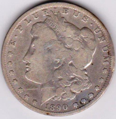 1890-O Morgan Silver Dollar.