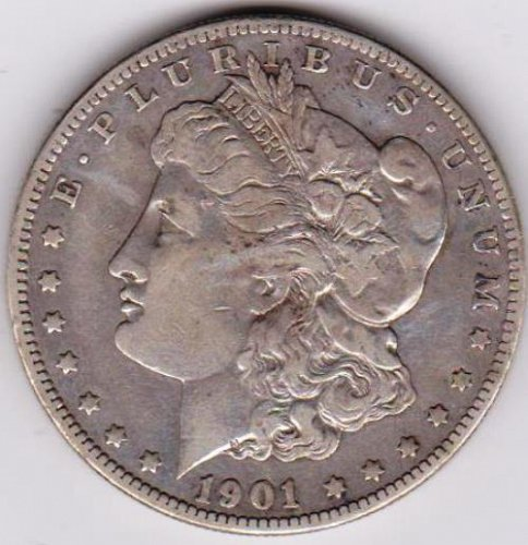 1901-S Morgan Silver Dollar