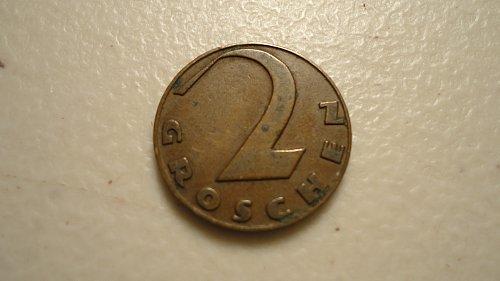 AUSTRIA 1929 2 GROSCHEN