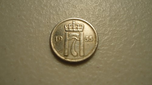 NORWAY 1955 10 ORE