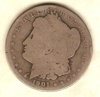 1901 O Morgan Silver Dollar - Start of the LAST New Milliennium