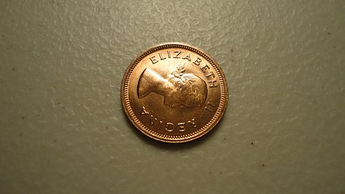 SOUTH AFRICA 1955 1/4 PENNY