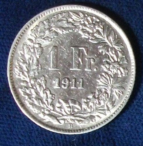 1911 Switzerland Franc XF