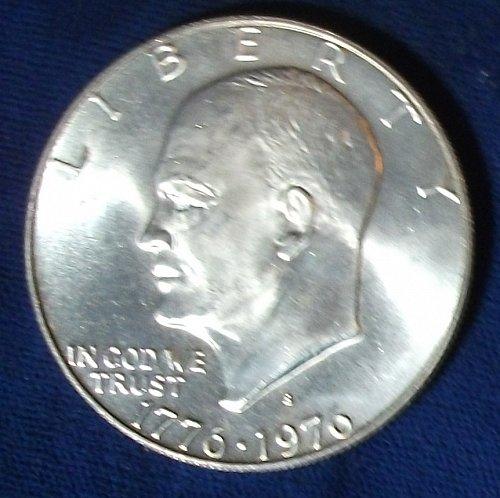1976S Ike Dollar 40% BU