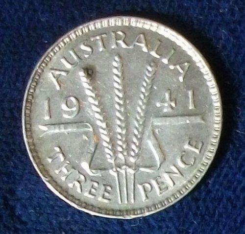 1941(m) Australia Threepence UNC