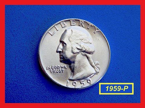1959-P  Washington Quarter   ★  Gem BU   ★  (#2681)➧