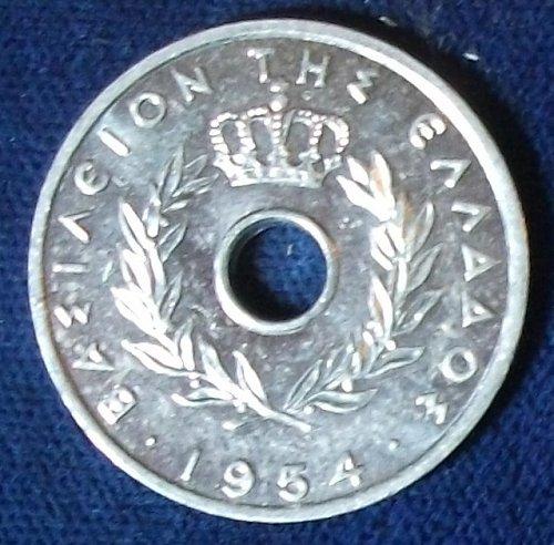 1954 Greece 20 Lepta UNC