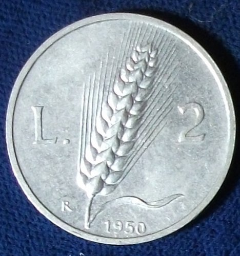 1950 Italy 2 Lire XF