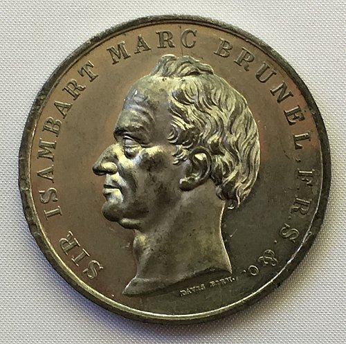1842 Sir Isambart M. Brunel The Thames River Tunnel Engineer Commemorative Medal