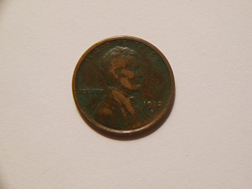 1912-S *Toned* Lincoln Wheat Cent