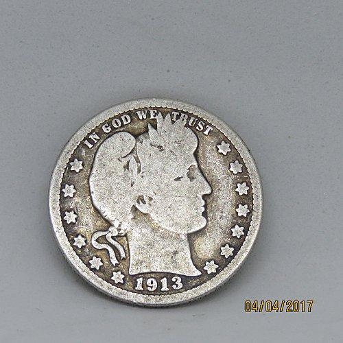 1913 P Barber Quarters