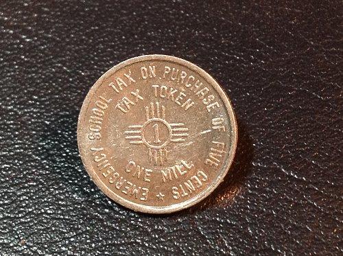 1935 New Mexico tax token