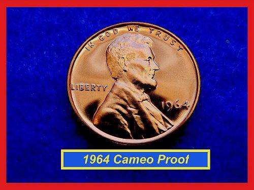 1964 CAMEO PROOF Penny ✬✬✬ High Grade GEM Proof  (#7200)b