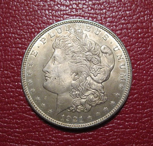 1921-P Morgan Silver Dollar,  NICE!!!