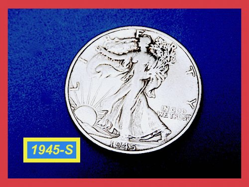"1945-S  Liberty Walking Half  ★  ""VF""   (#1794)➧"