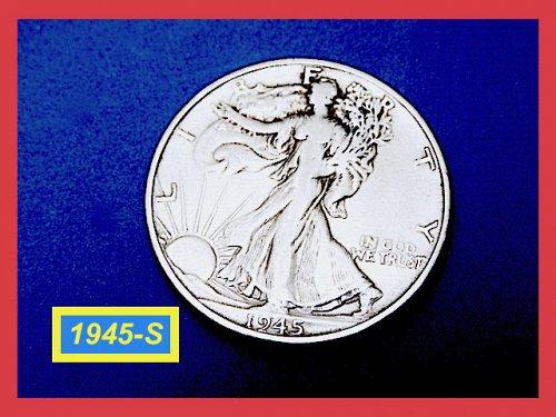 "1945-S  Liberty Walking Half  ★  ""VF""   (#1794)➧"