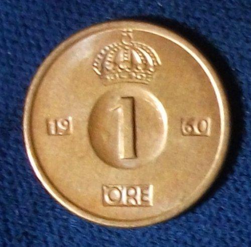 1960 Sweden Ore UNC