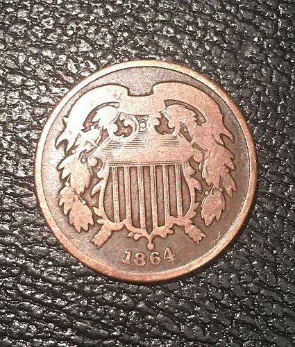 1864 two cents in good condition