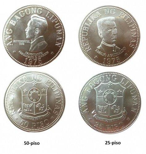 1975 - ABL Franklin Mint (Coin Set) 25- & 50-piso