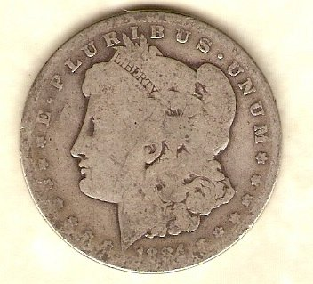 1884 P Morgan Dollar