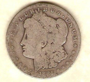 1884 P Morgan Dollar