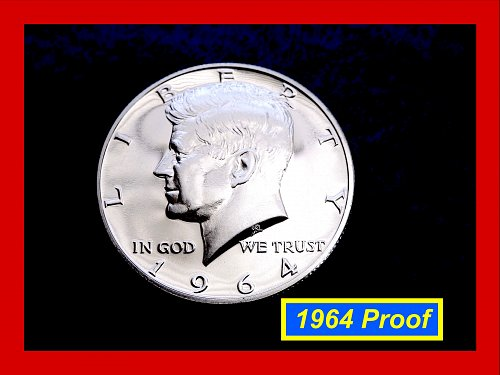 "1964  PROOF JFK Half Dollar ☆ ☆ ☆ Grades @ ""PR-63""  ☆  (#1730)a"