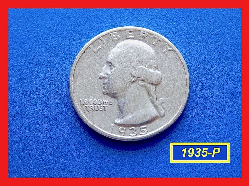 "1935-P  ""Circulated"" Washington Quarter ☆ ☆ ☆ (#2682)"