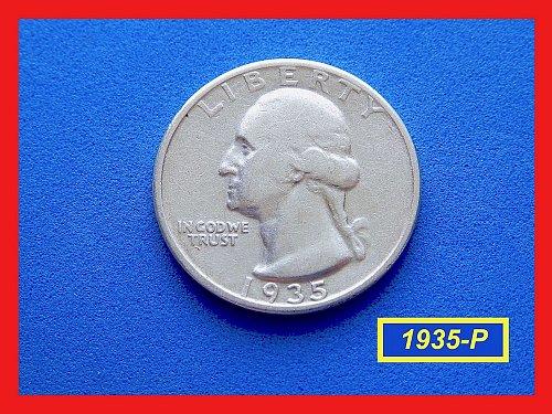 "1935-P  ""Circulated"" Washington Quarter ☆ ☆ ☆ (#2682)"