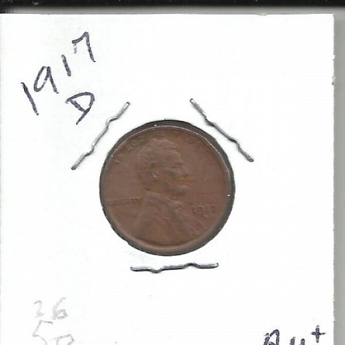 1917 D Lincoln Wheat Cent  Cent