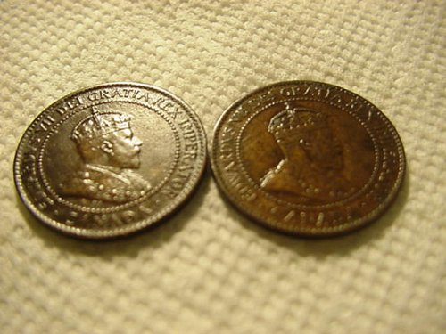 1902 and 1903 canada large cent...nice