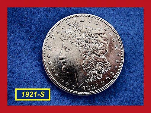 "1921-S Morgan Silver Dollar ★ Grades ""XF-45""  ★ (#5327)a"