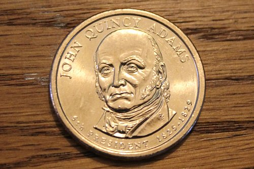 2008-P John Quincy Adams Presidential Dollar - Uncirculated from mint roll!!