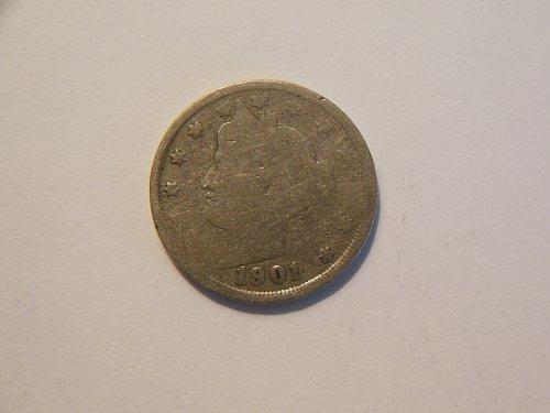 1901-P Liberty V Nickel