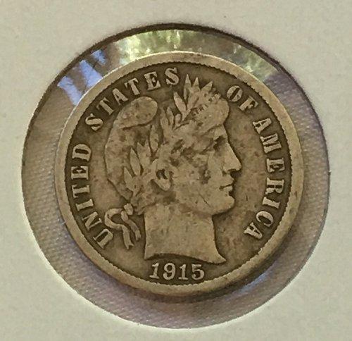1915 S Barber Dime