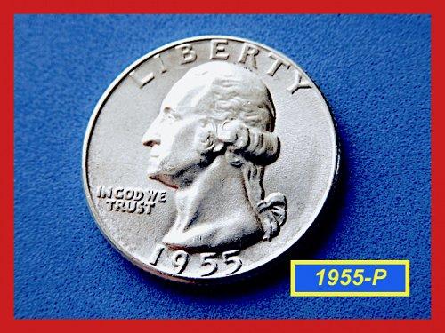 1955-P Washington Quarter ✬ 'BU'  ✬ (#2723)a