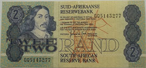 SOUTH AFRICA (ND)1981-83 2 RAND WORLD PAPER MONEY