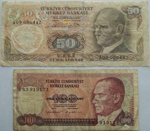 TURKEY 2 PIECE OLD WORLD PAPER MONEY LOT