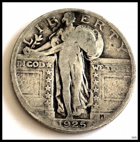 1925-P Standing Liberty Quarter Type 2