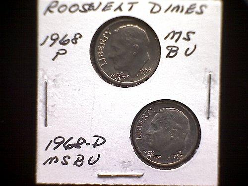 1968-P &1968-D ROOSEVELT DIMES