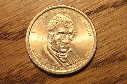 2009-P William Henry Harrison Presidential Dollar Coin - Circulated